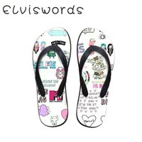 Women Slippers Summer Flip Flops Beach Flat Printed Cute Sma...