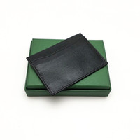 Titular Homens de alta qualidade Mulheres Cartão de Crédito Cartão clássico do Mini Banco Titular Pequeno Magro Carteira Wtih Box