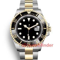 Keramik-Lünette 43mm RED 18ct Gold-Sea-Dweller Stanless Stahl 126603 Automatische Bewegung Luxus-Designer-Herren-Uhr-Mann-Armbanduhr-Uhren