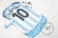 Frete grátis Argentina 2006 Messi # 19 Riquelme # 10 Tevez # 11 Aime # 16 Old Classic Vintage Jersey