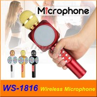 WS- 1816 Bluetooth Microphone LED Light Portable Handheld Wir...