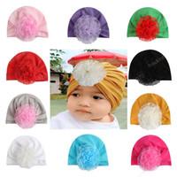 Kids Designer cappelli toddle infantile fiore vuoto cappello copricapo pullover tappo turbante accessori per capelli bambina bambini Fasce Bandane