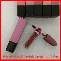 2019 heiße neue Lippe Make-up M Matte flüssige Lippenstift Lipgloss Selena Weihnachtsbullet Lip Gloss 12 Farben Freies Verschiffen