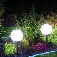 جديد led الطاقة الشمسية الطاقة تعمل بمصباح كهربائي 33 سنتيمتر للماء في الهواء الطلق حديقة الشارع الشمسية لوحة الكرة أضواء العشب يارد المشهد الزخرفية