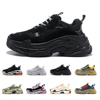 2019 balenciage Paris 17FW Triple S casual per uomo donna scarpe moda nero verde Low Old Dad sneakers designer walking