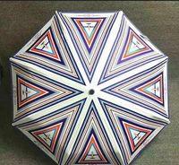 NEU! Luxus Klassische Muster Flugzeug Logo Regenschirm für Frauen 3 Verstecken Luxus Regenschirm mit Geschenk-Box und Tasche Regen-Regenschirm-VIP-Geschenk