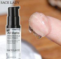 Free DHL SACE LADY Apprêt pour le visage invisible tout pores mats Lissant Hydratant Fini sans faille Base de maquillage Taille de l'échantillon 6 ml de maquillage pour le visage