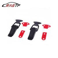 RASTP-2Pcs universel Pare-chocs Crochet de sécurité durable Clip Kit Lock pour voiture de course de capot Truck Quick Release Fastener RS-ENL007