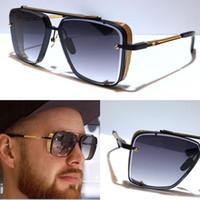 L baskı m altı güneş gözlüğü erkekler metal vintage güneş gözlüğü moda stil kare çerçevesiz UV 400 lens kılıfı ile sıcak satış özel model
