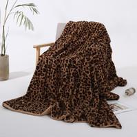 Inverno coperta calda 5 Stile Coperte Rosa Marrone Khaki stampa del leopardo peluche donne coperta del bambino poltrona Home Decor LXL1156-1