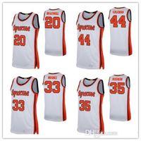 New Syracuse Basketball Jerseys 33 Elijah Hughes Buddy Boeheim Derrick Coleman Marek Dolezaj NCAA Jersey orange weiße gestickte genähte