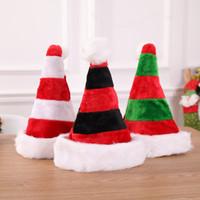 3styles 크리스마스 스트라이프 크리스마스 모자 장식 빨간 산타 클로스 가방 칼 붙이 가방 파티 장식 크리스마스 봉제 모자 장식품 아이 선물 FFA2848-1