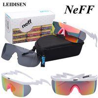 Con Fashion Box Neff degli occhiali da sole degli uomini / donne del progettista di marca di vetro di Sun Guidare Via Eyewear 2 Lens Oculos De Sol Feminino