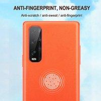 Оригинальная натуральная кожа обложка для OPPO Find X2 Силиконовые край крышки Pro для OPPO Reno 3 Pro противоударный телефон Case