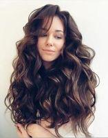 طويلة الباروكات موجة كبيرة ارتفاع درجة الحرارة الألياف اللون البني الشعر الطويل الاصطناعية الأفرو غريب مجعد الباروكات مجعد الشعر للنساء السود