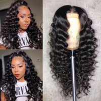 Peruvian Deep Wave Lace Front Wig Lace Pre Plucked Virgin Gl...