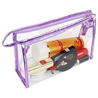 Portatile trasparente Multifunzionale Portatile PVC PVC Borsa per il trucco Cosmetico Case Custodia Custodia a mano Organizzatore Zipper Cosmetici Borsa Borsa Borsa da toilette