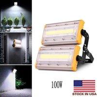 Lumières и светодиодный прожектор открытый модуль 10000LM 100 Вт 110V светодиодные прожекторы лампы IP65 водонепроницаемый пейзаж освещение солнечные напольные лиг