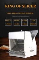 Automatique électrique 31 tranches de pain carré Slicer machine en acier inoxydable Petit Pain Cuites trancheuse Toast Machine à découper