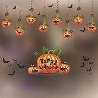 Janela Dia das Bruxas Decore etiqueta colorida fantasma dos desenhos animados Adesivo Decalque abóbora partido da bruxa porta de vidro etiqueta Suprimentos DBC VT0741