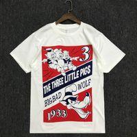 Mens verano 20ss estilista t camisas de la manera parejas casuales de manga corta de algodón de alta calidad cerdo Imprimir Hombres Mujeres Tees tamaño S-2XL