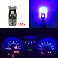 WLJH 100x lumineux T10 158 194 W5W Ampoule Led Voiture automatique Intérieur Dôme Licence Light Gauge Dash Instrument Light Panel Cluster Ampoules