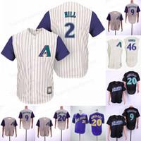 남자 44 Goldschmidt 야구 유니폼 51 존슨 20 Gonzalez 9 Williams 고품질 유니폼 모두 스티치