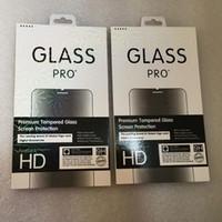 Lazer renkli sınır Perakende Ambalaj Kutu Paketi temperli cam 9H Ekran Koruyucu iphone X XS MAX XR 8 7 Galaxy S9 Plus için