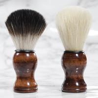 Premium Quality Badger Shaving Cepillo portátil Barba Cepillo Cara Barba Limpieza Hombres Afeitado Razor Cepillo Limpieza Herramientas de aparato RRA2386