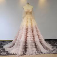 100% véritables images luxe blush rose rose de mariée épaule robes de mariée sexy tulle Plus Taille Robe de mariée ouverte