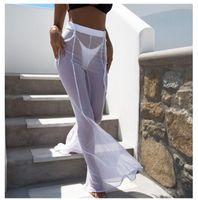 Art- und Weisedamen reizvolle dünne Ineinander greifenhose-Sommer-Strand-Perspektive Sunscreen Hosen des weiten Beines Hosen der weiten Bein-Frauen-Ineinander greifen-Abdeckungs-hohe Taillen-Hosen