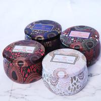 شمعة معطرة جرة فارغة صفيح مستديرة يمكن DIY اليدوية الشاي شمعة الحلوى الغذاء الاكسسوارات قرص تخزين مربع مع غطاء
