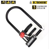 Bicicleta de U bloqueo antirrobo ETOOK 4 tamaños fuerte para la seguridad electrónica de coches MTB envío
