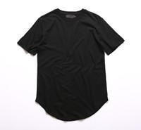 24cd7f94af6 New Arrival. Kanye West Extended T-Shirt Men Summer Curved Hem Longline Hip  Hop Tshirts Urban Blank Mens Tee ...