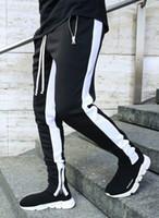 20S الرجال عداء ببطء سروال موضة صيف طويل مع زيبر الساخن بيع الرجال الملابس الداخلية الرياضية عارضة لتشغيل 5 ألوان الحجم M-3XL