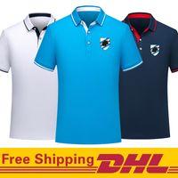 Ücretsiz DHL Kargo UC Sampdoria futbol Tişört erkekler Kısa Kollu polos Jersey Erkek Polo Yaka karışık toplu olabilir Futbol Tişört eğitim