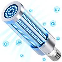 LED مصباح تطهير الأشعة فوق البنفسجية 60W E27 UVC Germicidal LED الذرة المصباح الكهربائي