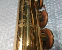 1976 ياناجيساوا S6 سوبرانو الساكسفون آلات موسيقية B شقة براس وصول الذهب الطلاء الجديد ساكس / الساكسفون، صنع في اليابان