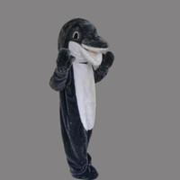 Novo tamanho adulto Animal Cinza Golfinho mascote personalizado Xmas Animal Do Mar Dolphin Masculino fancy dress traje Shool Evento Festa de Aniversário mascote