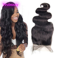 Indian Raw Virgin Hair Six By Six Lace Closure With Baby Hai...