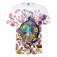 Suco WRLD 3D Printed T-shirts Rápido Album de manga curta gola Hiphop Mens Tops Rapper Casual Tees