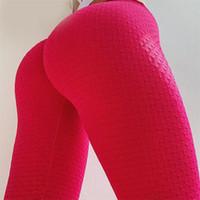 Kadın Tayt Laisiyi Kırmızı Kadın Polyester Ayak Bileği Uzunlukta Elastik Leggins Yüksek Bel Push Up Fitness Vücut Şekillendirici Giyim Seksi