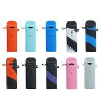 다채로운 노르 실리콘 케이스 실리콘 스킨 커버 가죽 고무 슬리브 보호 상자 적합 노드 vape 펜 포드 키트 DHL 무료