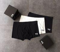 Y3 Homens boxer 3 cores carta impressão Designer ethika boxers swimwear macio luxo Homens Underwear moda boxer briefs designer mens clothing