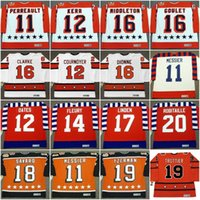 11 GILBERT PERREAULT 1984 MARK MESSIER ADAM OATES TIM KERR YVAN COURNOYER THEOREN FLEURY BOBBY CLARKE Tüm Yıldızlar Vintage Hockey Jersey