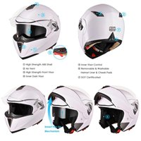 Motorcycle Bike Helmets Protective Cap Motocross Full Face H...