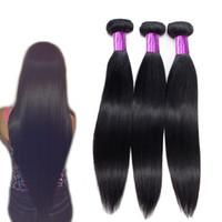 10A brasileño recto cabello humano de tres paquetes en una bolsa de visón brasileño de la onda del cuerpo producto del pelo al por mayor paquetes de cabello humano precio