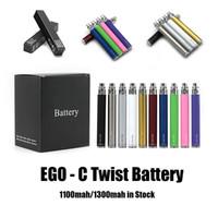 Ego C Twist Vision Spinner VPAE Batterie Voltage de la batterie 3.3 ~ 4.8V 1100MAH 1300MAH E Cigarette 510