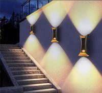 Up Down Wandleuchte LED-COB Moderne Indoor / Outdoor wasserdichter Garten-Wand Lamp Hotel Dekoration Licht Wohnzimmer Schlafzimmer TV Hintergrund Lampen.