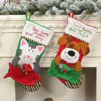 New Custom Christmas Decoration Ciondolo Cane Cat Busta Pet Socks Natale Casa Natale Ornamenti creativi Sacchetti regalo di Natale